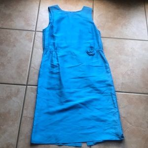 J. Crew Sky Blue Georgia Silk Midi Dress Size 6